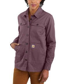 Carhartt Women's Midweight Twill Jersey-Lined Long Sleeve Shirt Jacket , , hi-res