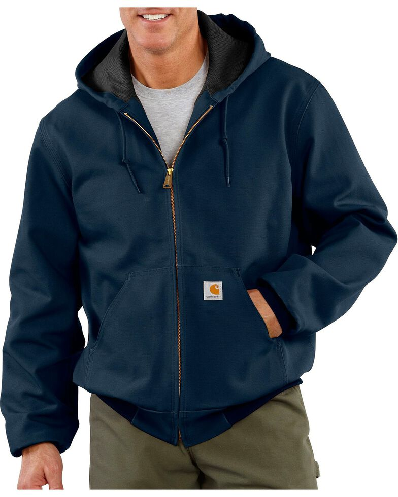 Carhartt Thermal Lined Canvas Hooded Jacket, Navy, hi-res
