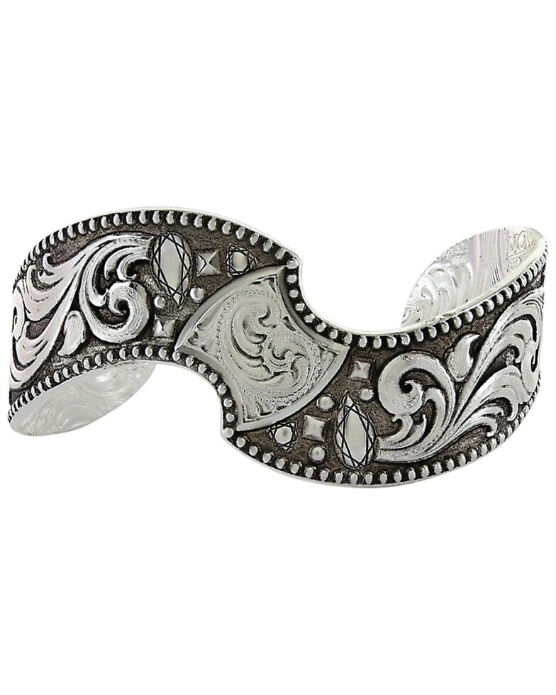 Montana Silversmiths Antique Twisted Cushion Cuff Bracelet  , Silver, hi-res
