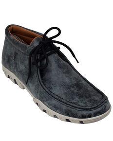 Ferrini Men's Rogue Smokey Black Shoes - Moc Toe, Black, hi-res