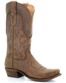 Corral Men's Jeb Western Boots - Narrow Square Toe, Gold, hi-res