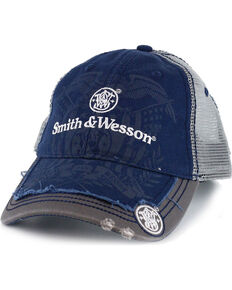 03bdc438ba6 Smith   Wesson Men s Distressed Logo Ball Cap