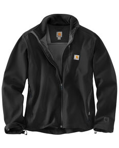 Carhartt Men's Pineville Softshell Work Jacket, Black, hi-res