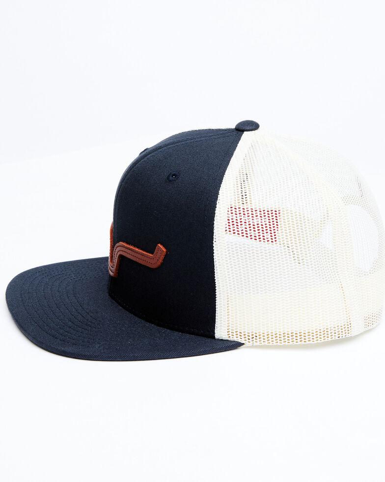 Kimes Ranch Dark Navy ATG Embroidered Horns Logo Mesh-Back Ball Cap , Navy, hi-res