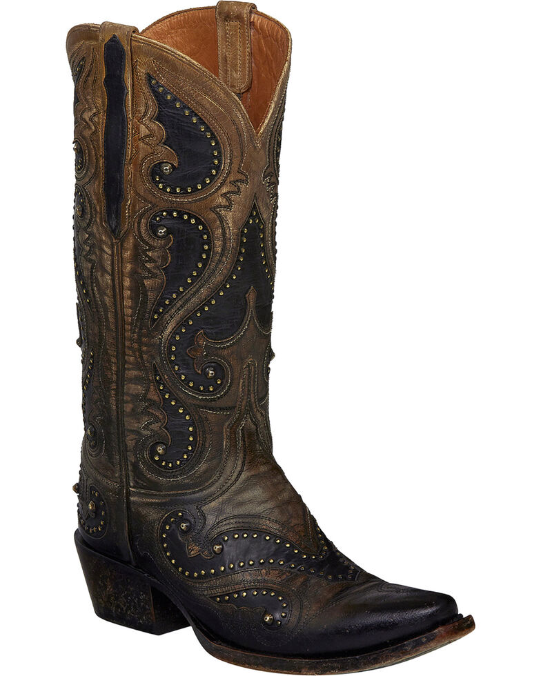 Lucchese Handmade Pearl Ombre Gemma Cowgirl Boots - Snip Toe , Light Brown, hi-res