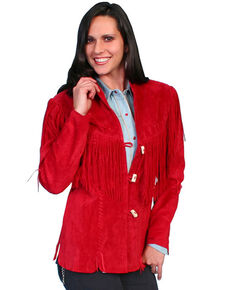 Leatherwear by Scully Women's Cheyenne Jacket - Plus, Red, hi-res