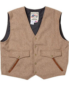 Schaefer Outfitter Men's Taupe Stockman Melton Wool Vest - 2XL, Taupe, hi-res