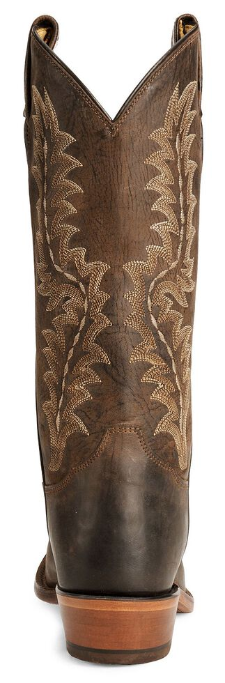 Tony Lama Men's Chocolate Goat Skin Cowboy Boot - Medium Toe, Chocolate, hi-res