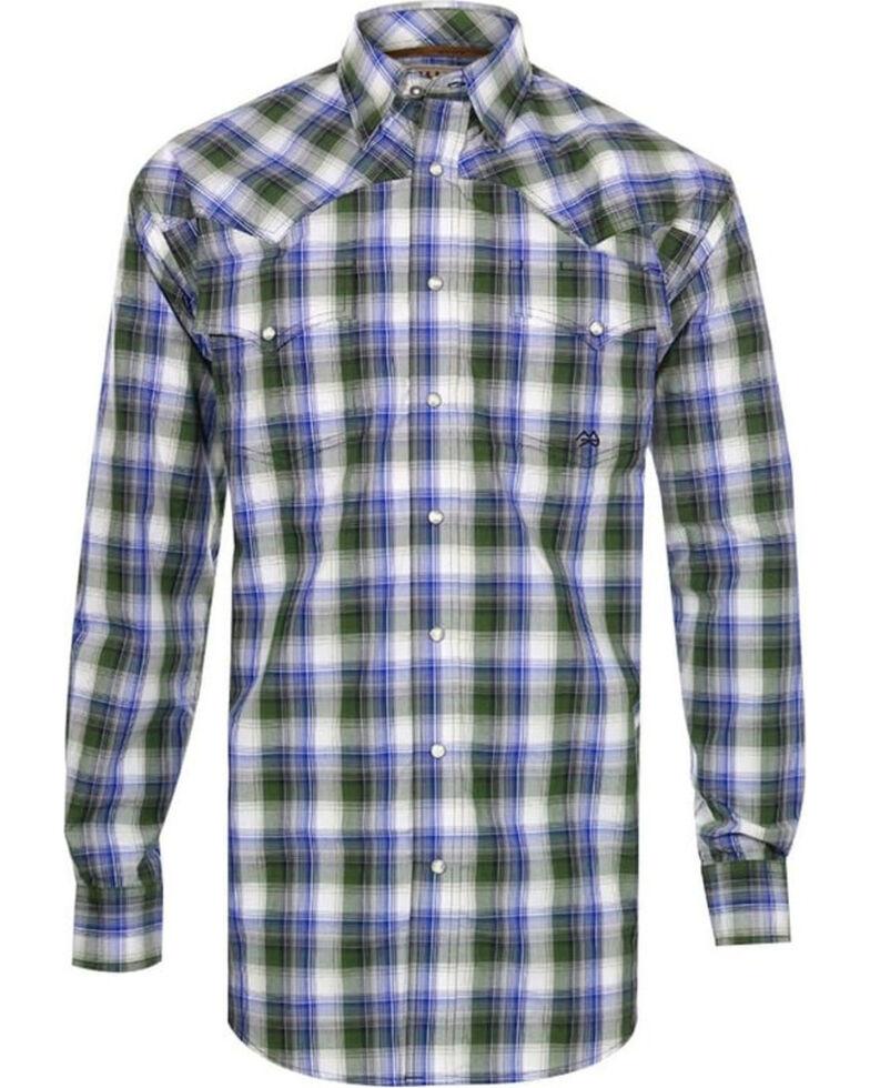 Miller Ranch Men's Plaid Long Sleeve Western Shirt, White, hi-res