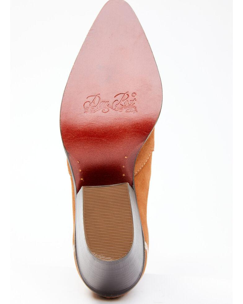 Dan Post Women's White Inlay Fashion Booties - Snip Toe, Tan, hi-res