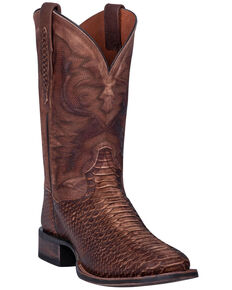 Dan Post Men's Ka Western Boots - Wide Square Toe, Brown, hi-res