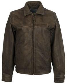 STS Ranchwear Women's Dark Cream Rifleman Leather Jacket, Brown, hi-res