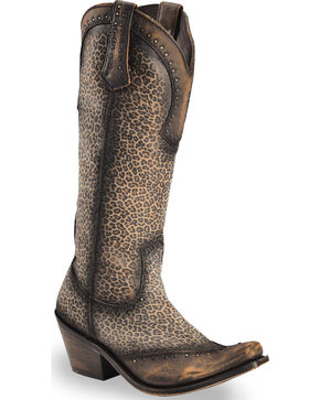 Liberty Black Women's Micro Jaguart T-Moro Boots - Narrow Square Toe , Brown, hi-res