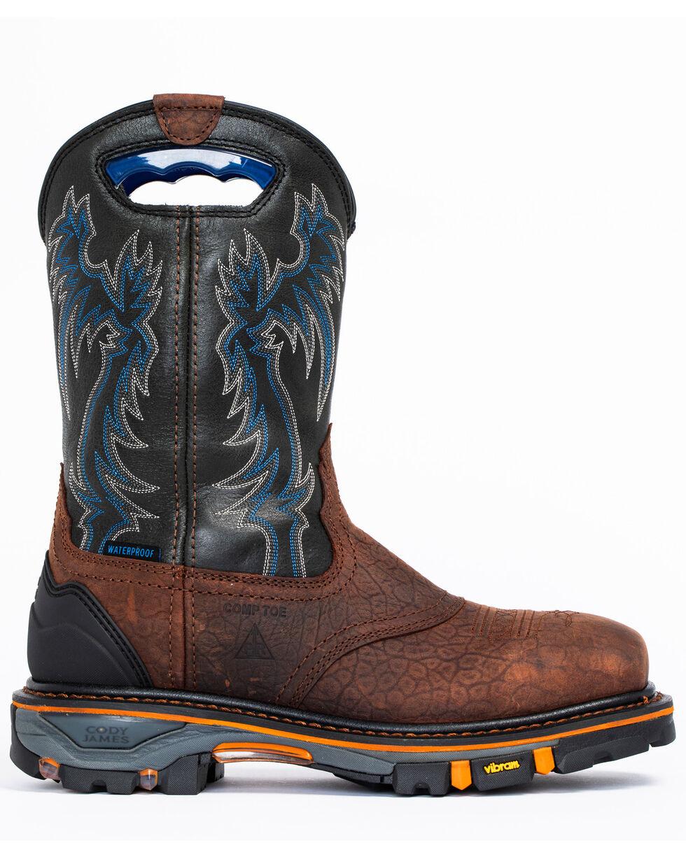 Cody James Men's Decimator Waterproof Western Work Boots - Composite Toe, Brown, hi-res