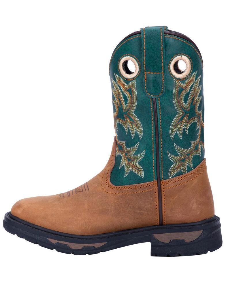Dan Post Boys' Ridge Runner Western Boots - Wide Square Toe, Tan, hi-res