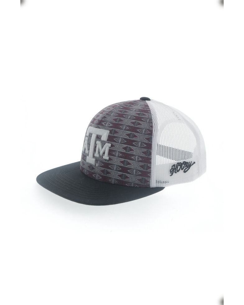 HOOey Men's Texas A&M Logo Flex Fit Mesh Ball Cap , Maroon, hi-res