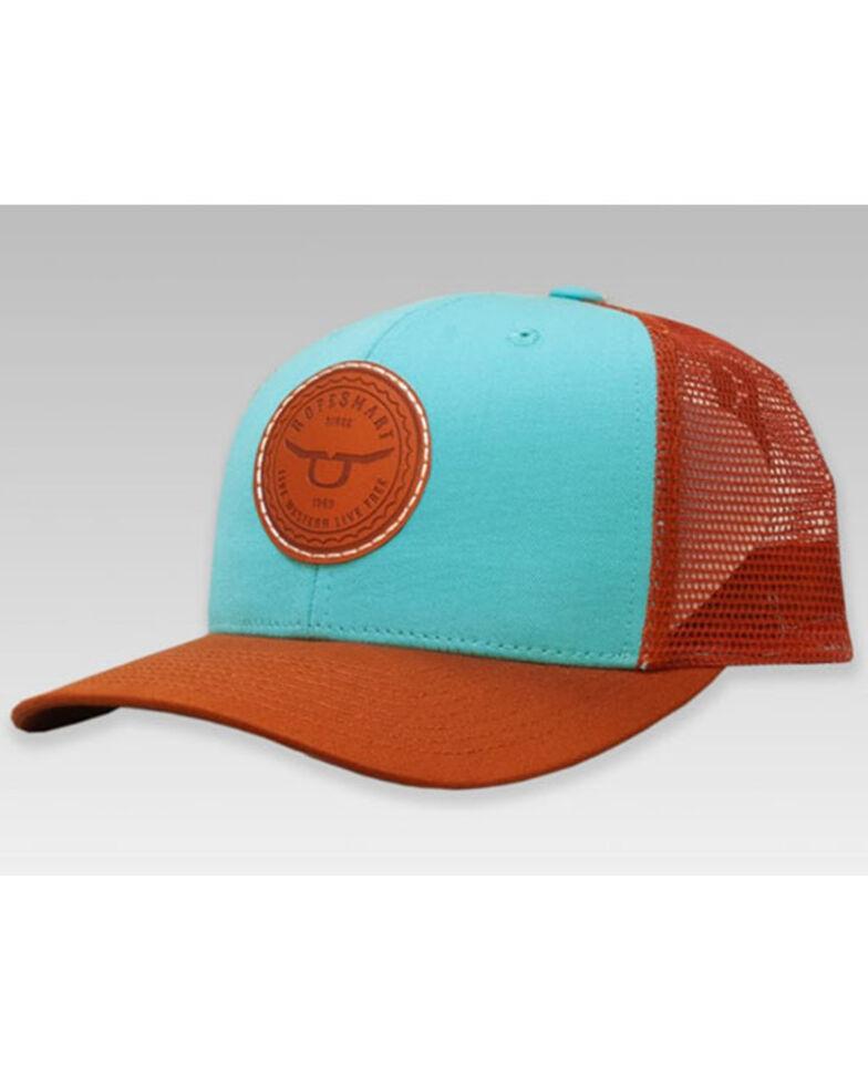 RopeSmart Women's Rust & Turquoise Circle Logo Mesh-Back Ball Cap , Turquoise, hi-res