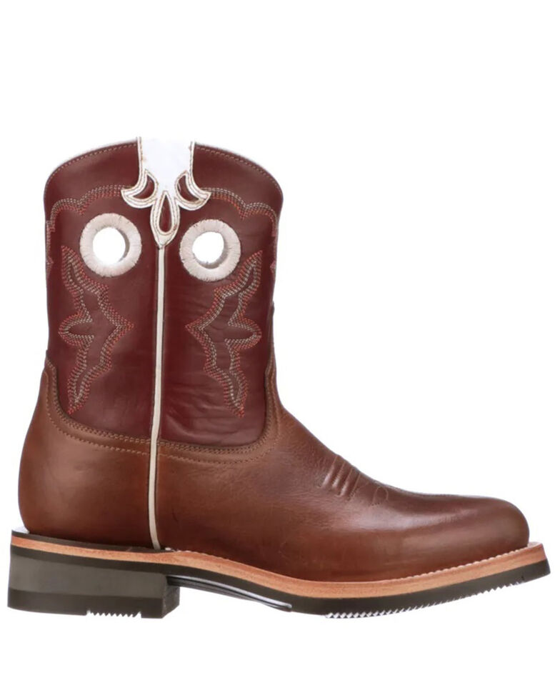 Lucchese Women's Ruth Western Boots - Round Toe, Tan, hi-res