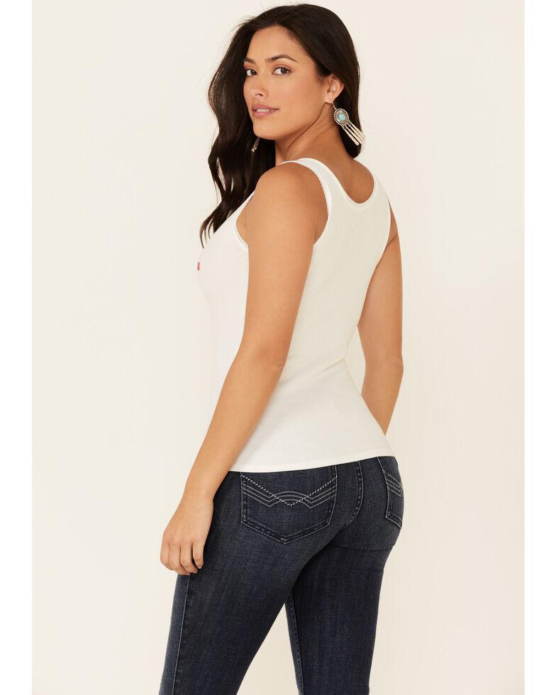 Idyllwind Women's Hot Dang Lacy Tank Top , White, hi-res