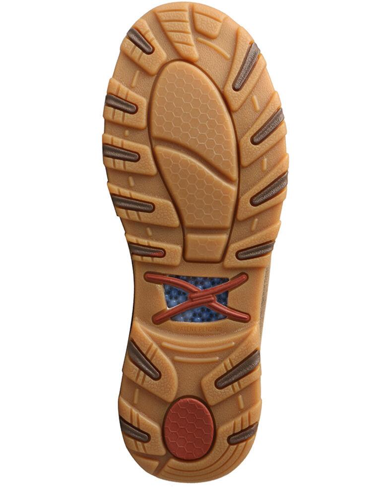 Twisted X Women's CellStretch Boat Shoes - Moc Toe, Beige/khaki, hi-res