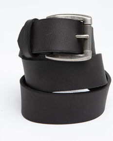 Hawx Men's Black Plain Roller Buckle Work Belt, Black, hi-res