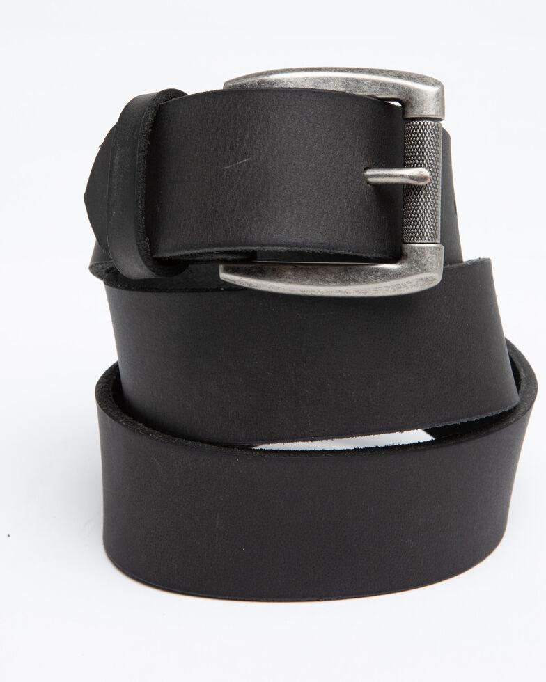 Hawx Men's Black Plain Roller Buckle Work Belt, Black, hi-res