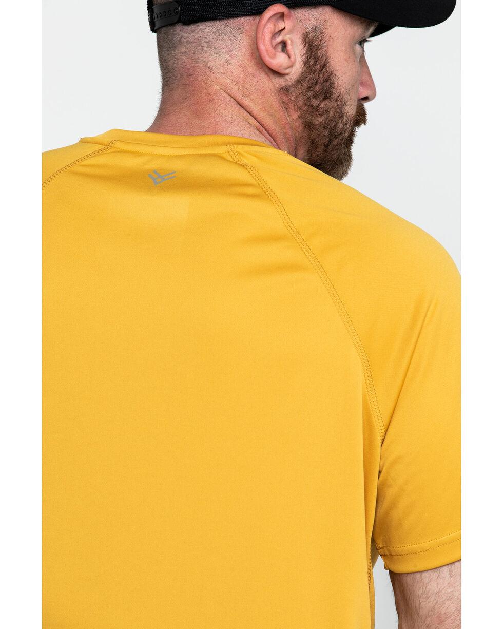 Hawx® Men's Gold Solid Performance Work T-Shirt , Gold, hi-res