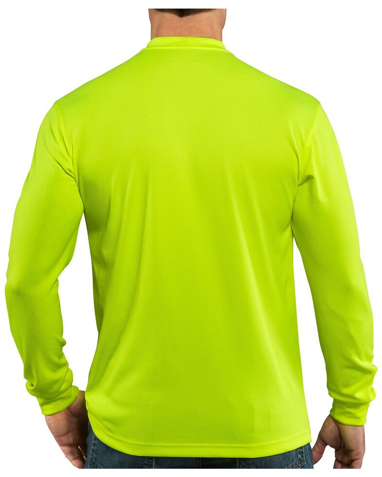 Carhartt Force Color-Enhanced Long Sleeve T-Shirt, Lime, hi-res