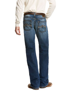 Ariat Men's Aspen Jett Wide Boot Cut Jeans, Blue, hi-res