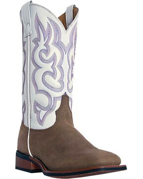 Laredo Mesquite Cowgirl Boots - Square Toe, Taupe, hi-res