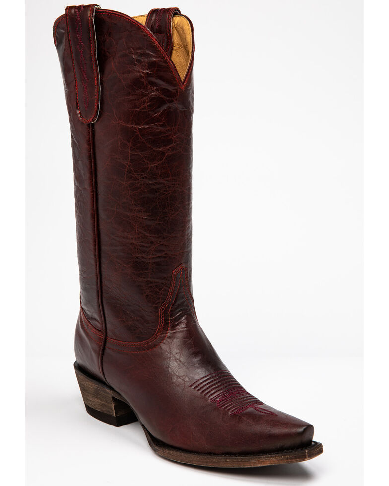 Idyllwind Women's Wild West Western Boots - Snip Toe, Red, hi-res