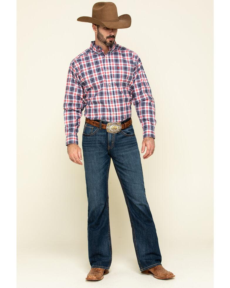 Ariat Men's Shannon Multi Plaid Long Sleeve Western Shirt - Big , Multi, hi-res