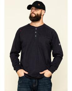 Ariat Men's Black FR Air Soar Graphic Long Sleeve Work Henley T-Shirt - Big & Tall, Black, hi-res