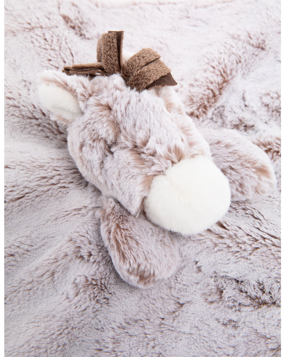 "Aurora 13"" Lovey Horse Blanket Rattle, Grey, hi-res"