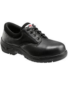 Avenger Men's Black Oxford Work Shoes - Composite Toe , Black, hi-res