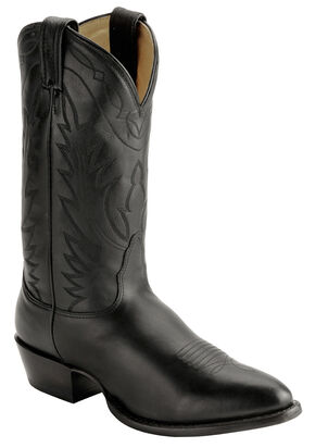 Nocona Deertan Cowboy Boots - Medium Toe, Black, hi-res