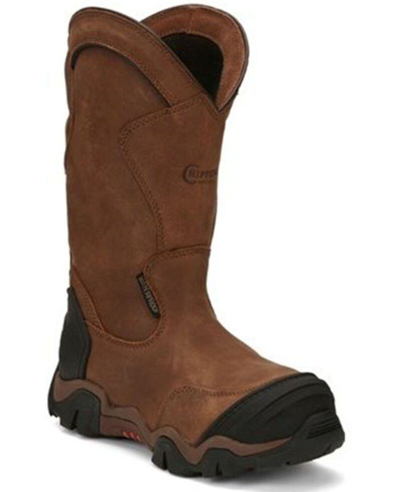 Chippewa Women's Cross Terrain Western Work Boots - Nano Composite Toe, Brown, hi-res