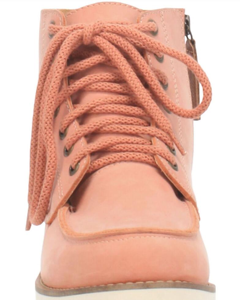 Dingo Women's Rosie Casual Shoes - Moc Toe, Pink, hi-res