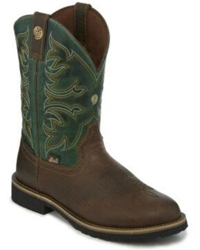 Justin Men's Aransas Pecan Western Boots - Round Toe, Brown, hi-res