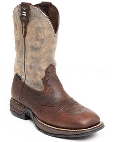 Cody James Men's Tyche Performance Western Boots - Wide Square Toe, Brown, hi-res