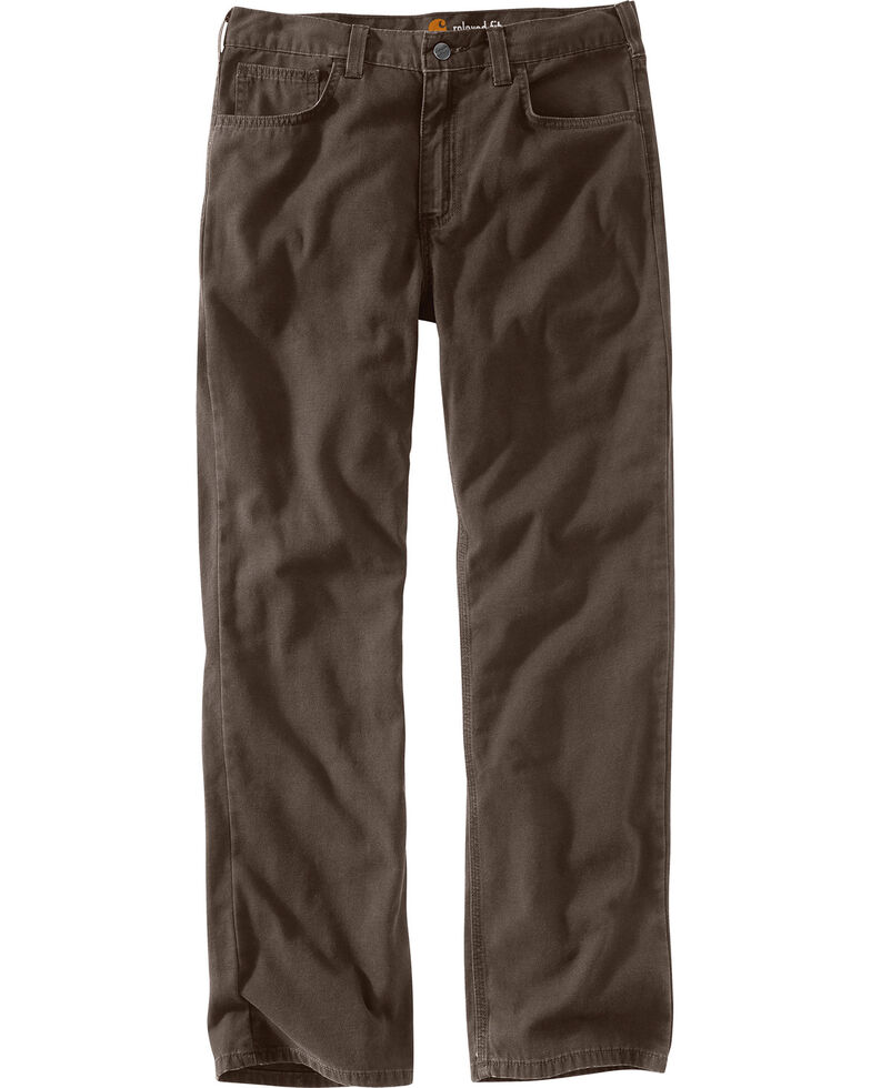 Carhartt Men's Rugged Flex® Rigby Five-Pocket Jeans, Chocolate, hi-res