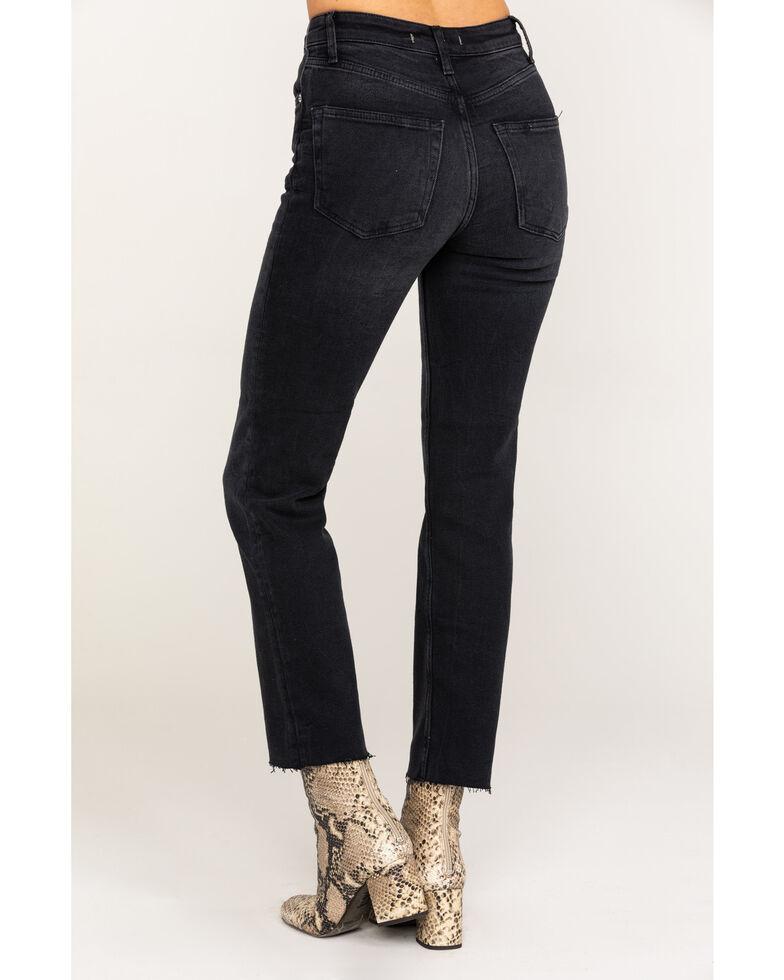 Free people Women's Black High Slim Straight Jeans, Black, hi-res