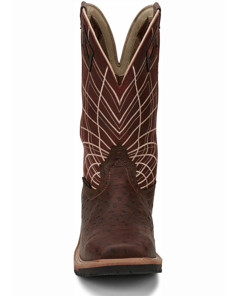 Justin Men's Derrickman Western Work Boots - Composite Toe, Cognac, hi-res