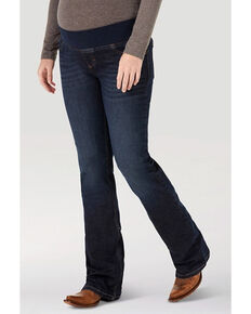 Wrangler Women's Mae Maternity Bootcut Jeans, Blue, hi-res