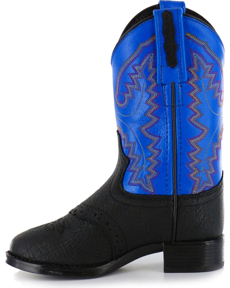 Cody James Kid's Saddle Vamp Western Boots, Black, hi-res