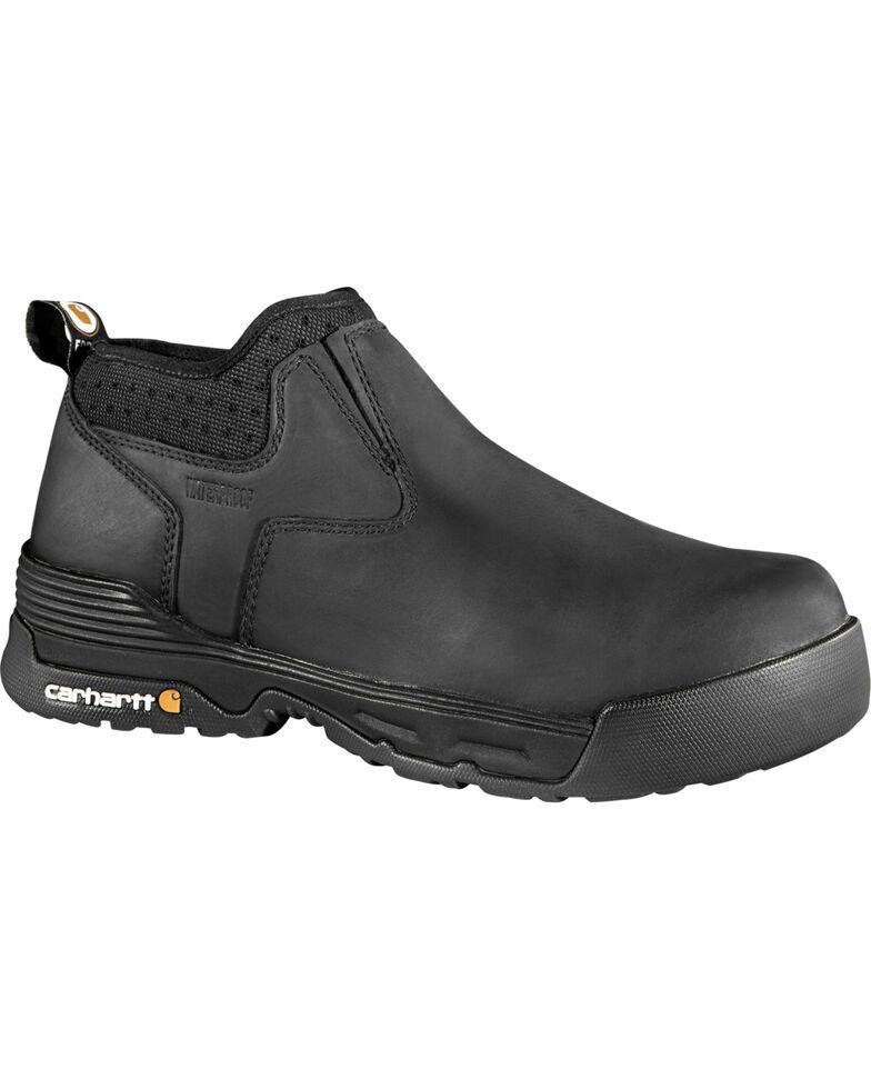 "Carhartt Force Men's 4"" Black Waterproof Work Shoes - Composite Toe, Black, hi-res"