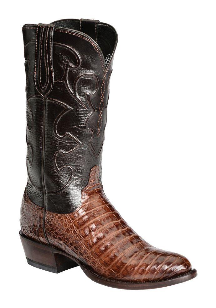 Lucchese Handmade 1883 Caiman Belly Cowboy Boots - Medium Toe, Sienna, hi-res