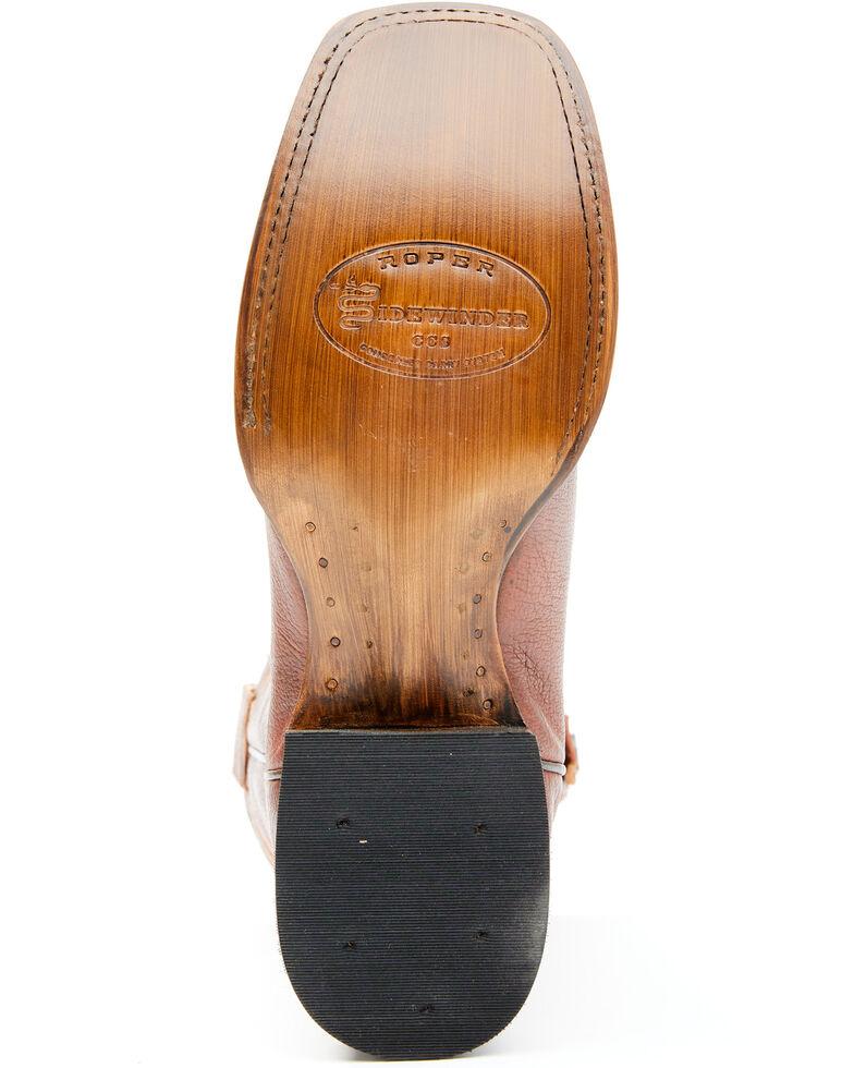 Roper Men's Brown Conceal Carry Pocket Pierce Boots - Square Toe , Brown, hi-res