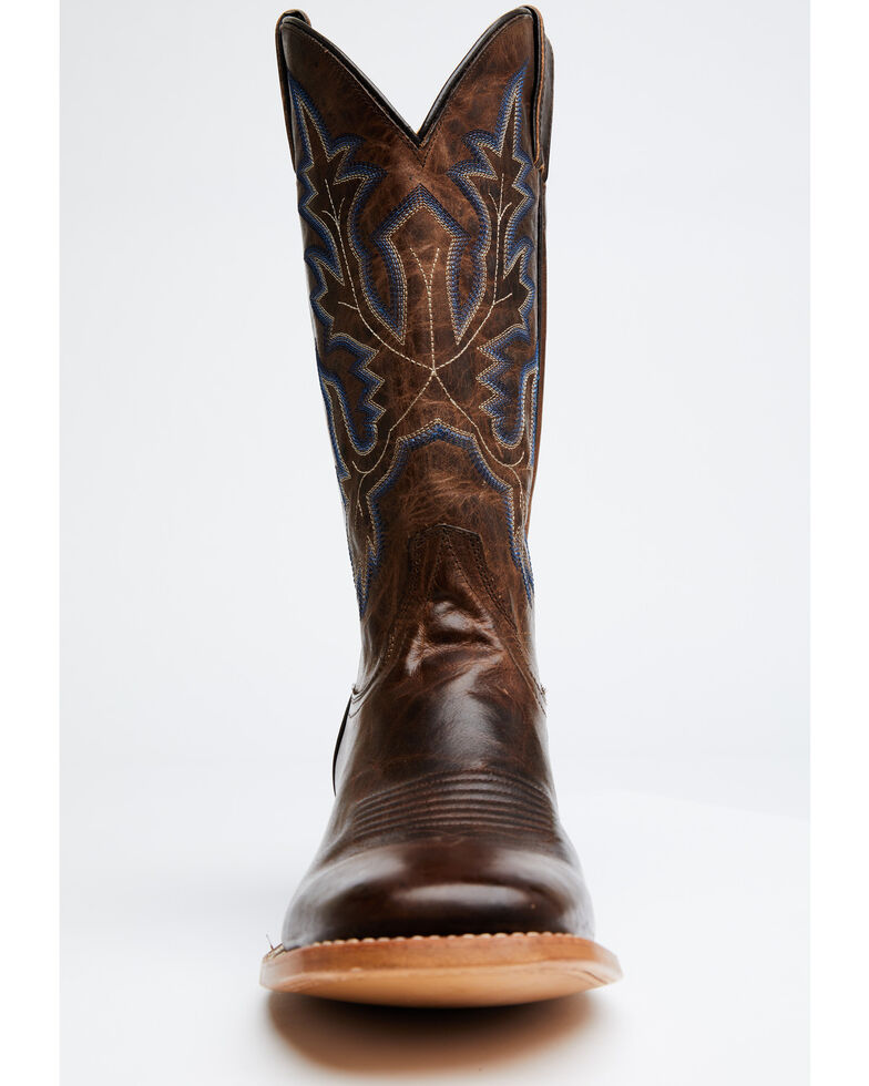 Cody James Men's Duval Western Boots - Wide Square Toe, Brown, hi-res