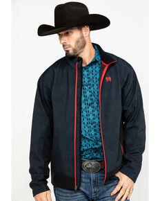 Cinch Men's Dark Gray Color Blocked Softshell Bonded Jacket , Grey, hi-res